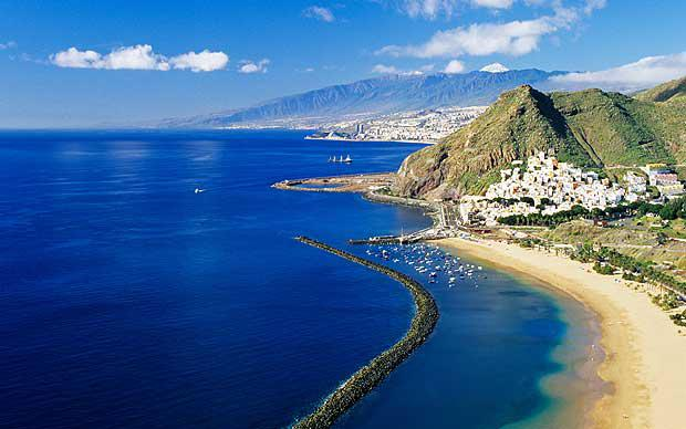Visiting Playa de Las Teresitas during the private tour to Anaga Mountains in Tenerife