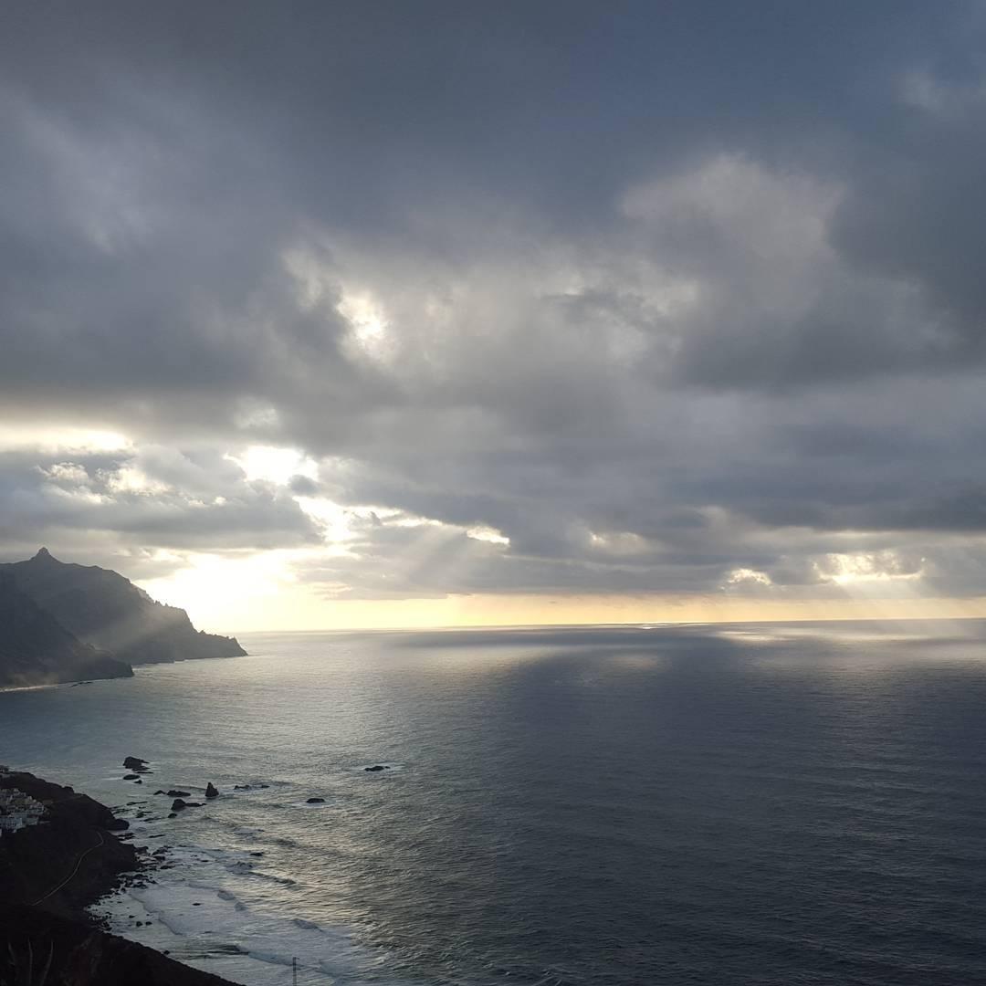 Sunset in Benijo, Tenerife island - private hiking tour