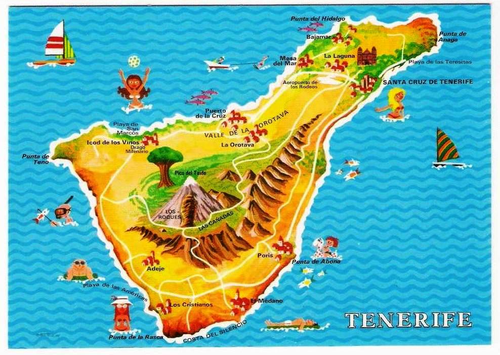 Tenerife island map