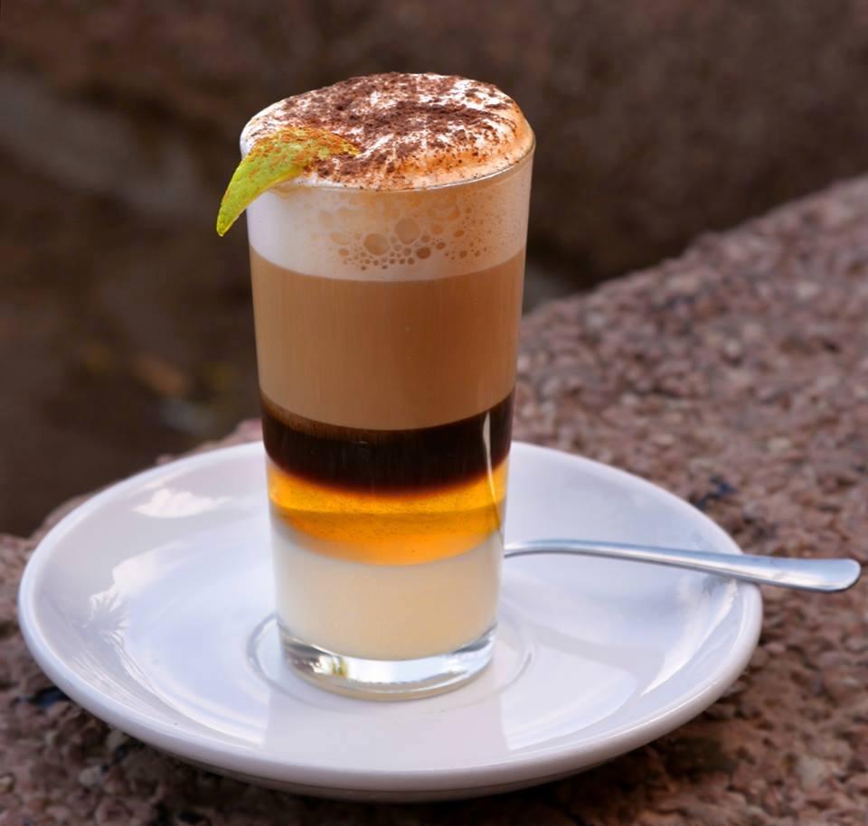 Barraquito - local coffee in Tenerife
